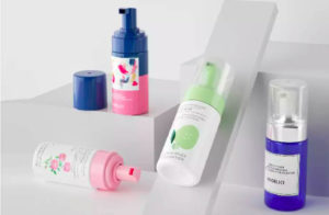 Cosmetic cleaning foaming pumps