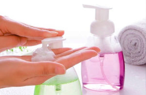 Personal cleaning sanitizer foaming pumps