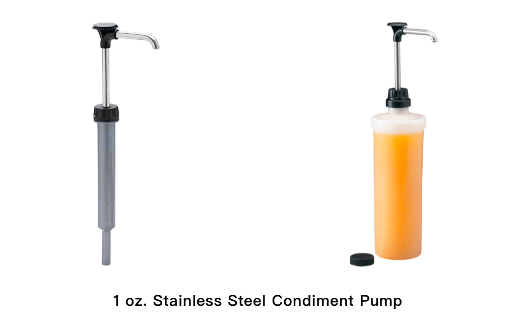 1 oz. Stainless Steel Condiment Pump