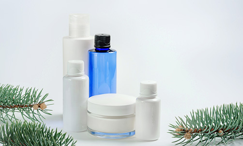 skin care bottles and pumps